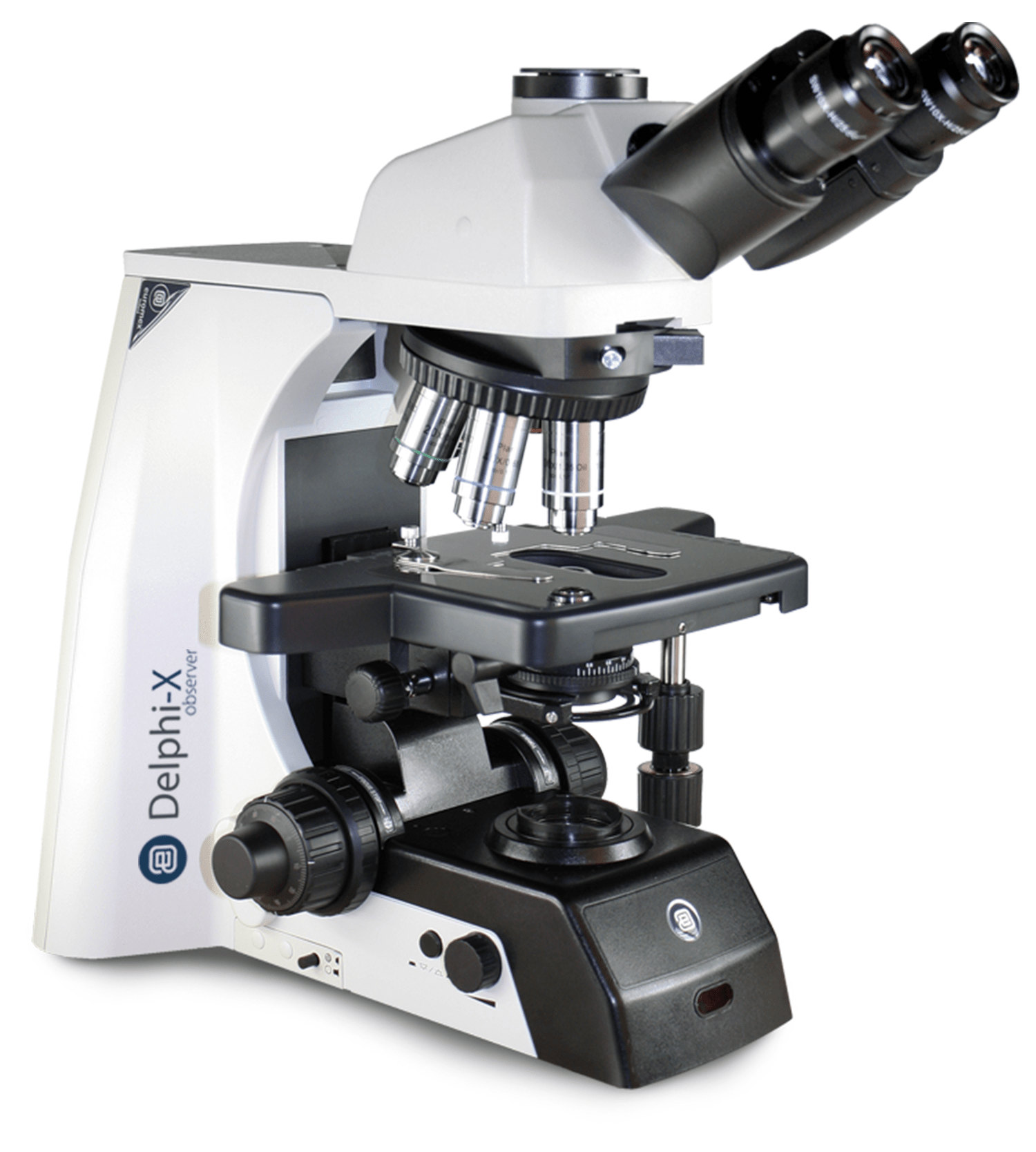 microscopio profesional de investigación con oculares de super gran campo y objetivos APO
