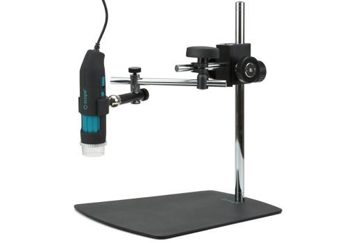 Base con brazo boom con posicionador 3D para microscopio digital USB q-scope